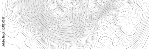 Obraz The stylized height of the topographic contour in lines and contours. The concept of a conditional geography scheme and the terrain path. Vector illustration. - fototapety do salonu