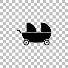 Baby Carriage For Two Baby Ico...