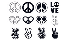 Peace Sign Vector Design Blac...
