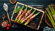 Asparagus Baked With Bacon And...