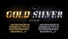 Silver And Gold Serif Font And...