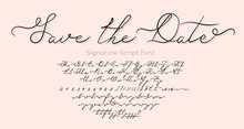 Save The Date Vector Font And ...