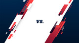 Versus screen. Vs battle headline, conflict duel between Red and Blue teams. Confrontation fight competition. sport. football, basketball, soccer screen. martial arts mma fighter match vector
