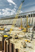 View Of Dam Under Construction