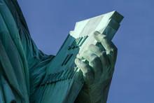 Statue Of Liberty Tablet Inscription Close Up - July 4th IV 1776 MDCCLXXVI