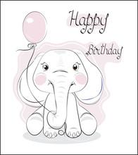 Elephant With Balloon