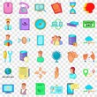 Message icons set. Cartoon style of 36 message vector icons for web for any design