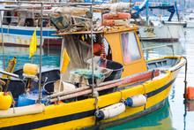 Italy, Liguria, Cinque Terre, Fishing Boat