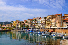 France, Corsica, Calvi, Boats In The Harbor