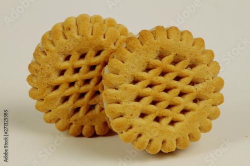 Cream biscuits between two biscuits Canvas