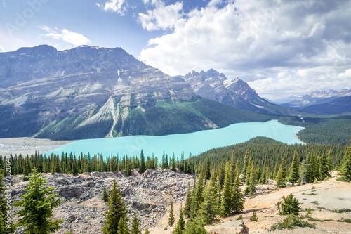 Photo sur Toile Bleu clair Lake Peyto