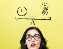 Time And Money On The Scale Wi...