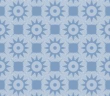 Blue Pattern With Geometric Design