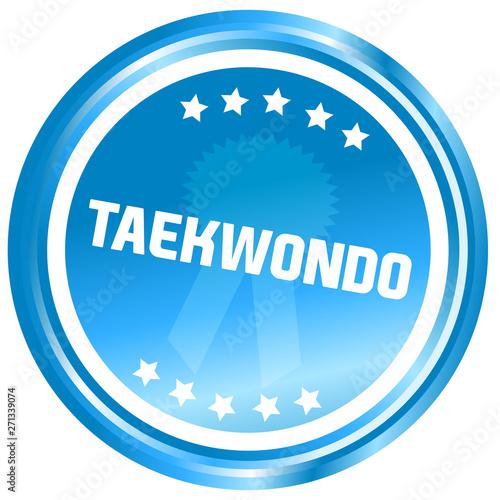 Obrazy Taekwondo   taekwondo-web-glossy-button-sport