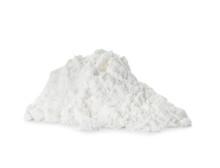 Pile Of Protein Powder On White Background