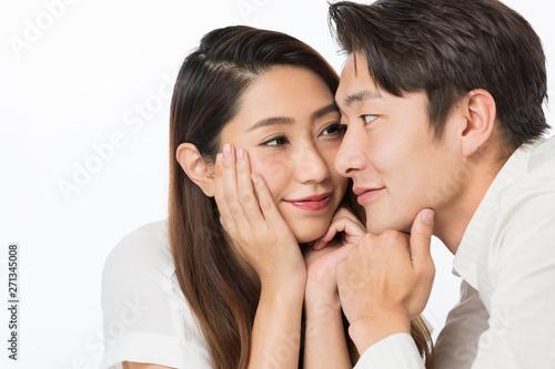 見つめ合うカップル Canvas Print