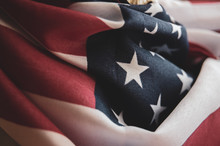 Close Up Of Usa Flag - Memoria...
