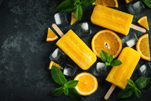 Bright Popsicle Made Of Orange...