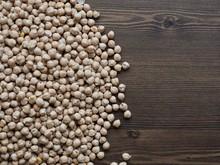 한국의 신선한 유기농 콩, 병아리 콩