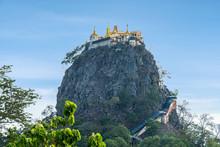 Mount POPA In Mandalay Myanmar