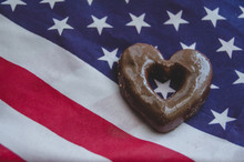 Heart Shaped Biscuits And Usa ...