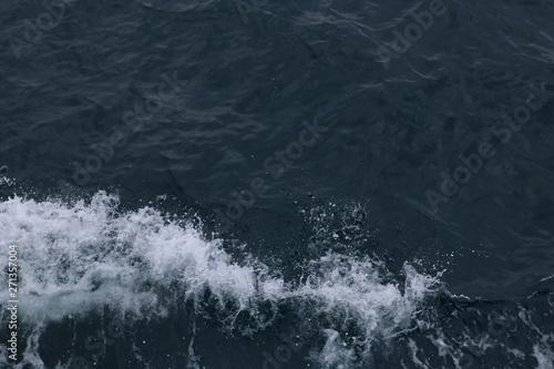 Spoed Fotobehang Onweer waves on the sea