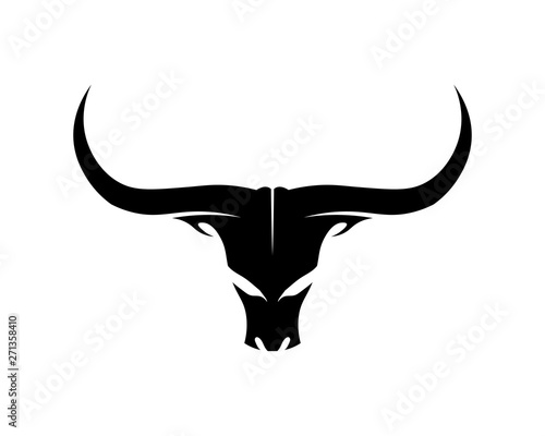 Bull horn logo and symbols template icons app Wall mural