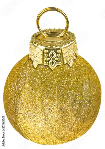 Poster Fleur Boule de Noël dorée