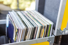 Yellow Box DJ. Vinyl Records. Collection Of Vinyl Music. Quality Sound. DJing As A Hobby And A Vocation.