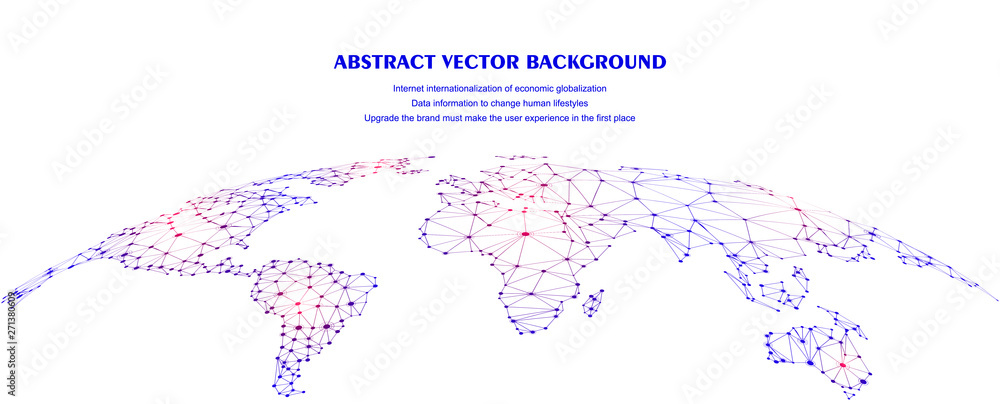 Fototapeta Global network connection concept, abstract concept earth