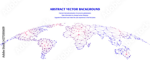 Obraz Global network connection concept, abstract concept earth - fototapety do salonu