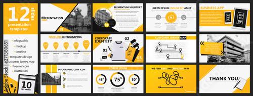 Photo  Yellow and black presentation templates