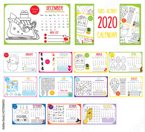 Games Coming Out In September 2020.Kids Activity Calendar 2020 Annual Calendar With