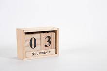 Wooden Calendar November 03 On...