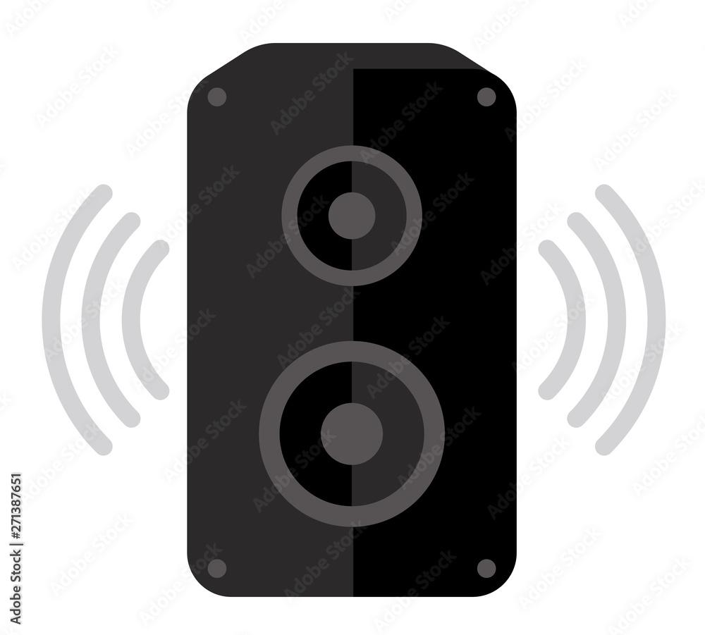 Fototapeta Audio speaker flat vector icon