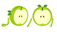 Green Apple Circle Bag, Round ...