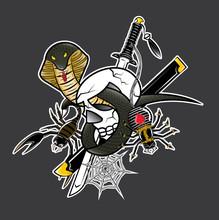 Vector Skull Snake Spider Scorpion Samurai