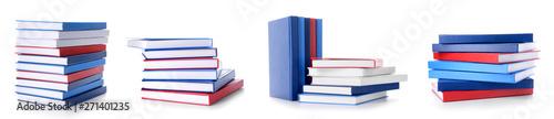 Carta da parati Set with many books on white background
