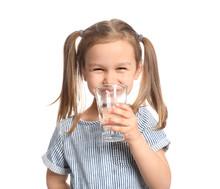 Cute Little Girl Drinking Wate...