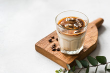 Ice Cold Coffee In Glass, Refr...