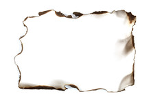 Isolated Scorched Paper