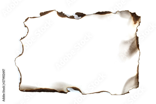 isolated scorched paper Canvas-taulu