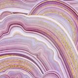 abstrakcyjne tło, fałszywe tekstury kamienia, agat z różowymi i złotymi żyłami, malowana sztuczna marmurkowa powierzchnia, ilustracja marmurkowa moda - 271404064