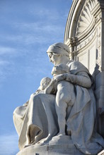 Details From Queen Victoria Monument Statue London England At Buckingham Palace
