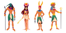 Egyptian Gods Amun, Ra, Thoth,...