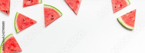 Stampa su Tela Fresh watermelon slices pattern