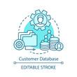 Customer database concept icon
