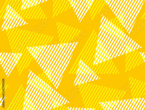 Obraz Abstract geometric dynamic triangle and stripe seamless pattern. - fototapety do salonu