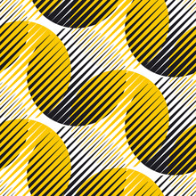 Concept Line And Circle Geometric Seamless Pattern.