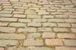 Stone pavement texture roadway, background.